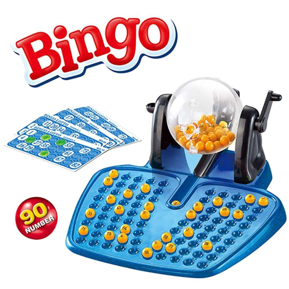 Bingo Lotto Game Set - 90 Balls, 48 Bingo Cards, and 80 Chips (Commonwealth Version)