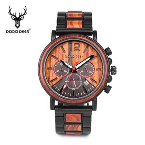 2020 China Watch Manufacturer DODO DEER big face ebony wooden watches with private logo