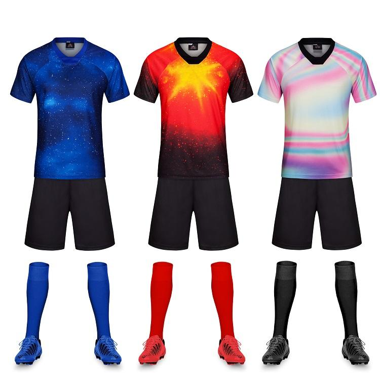 Custom Made Soccer Jersey Clothing wholesale 100% Polyester Sublimation Football Jersey