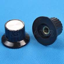 Skirted 6MM Shaft Volume Control Plastic Radio Knobs For Potentiometer