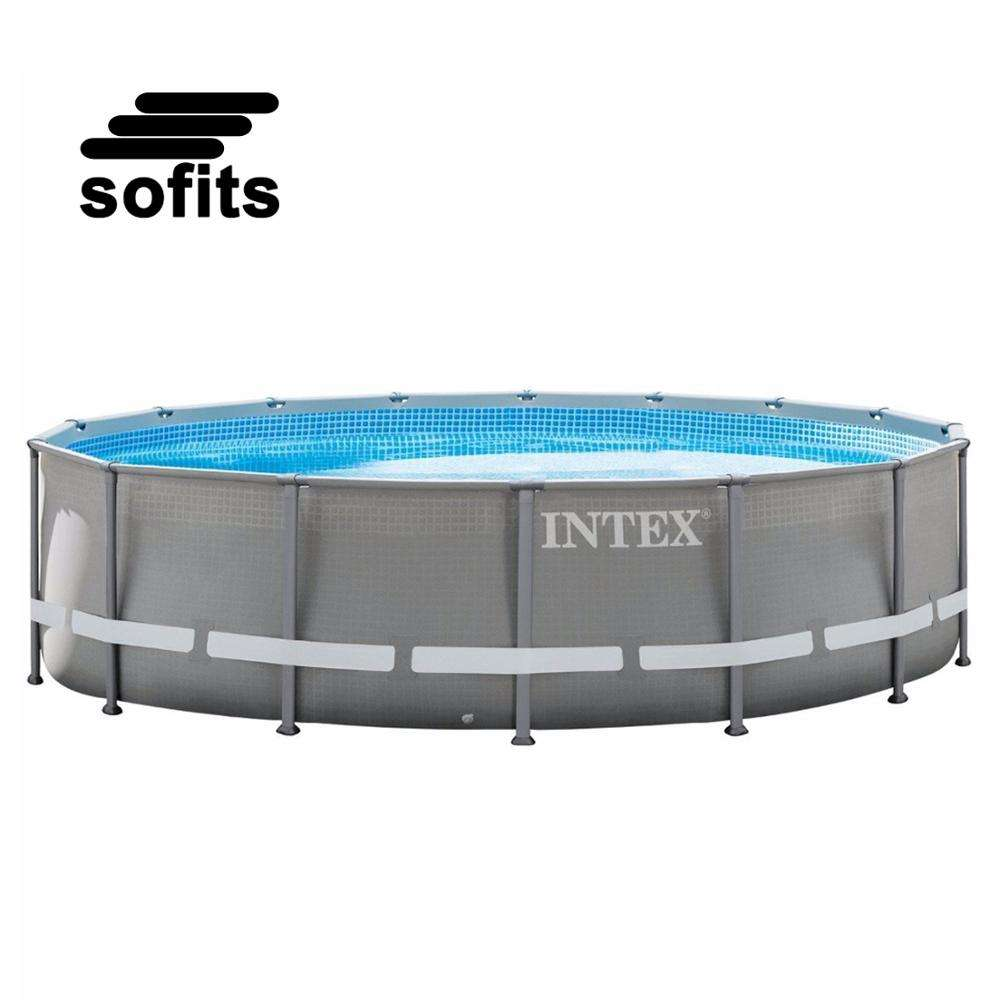 Intex 26734 Outdoor Inflatable Family Swimming Pool Metal Frame Pool Large Above Ground Pool