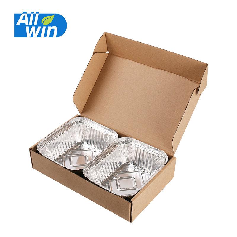 Прямоугольная коробка гофрированная доставка пищевая коробка упаковка