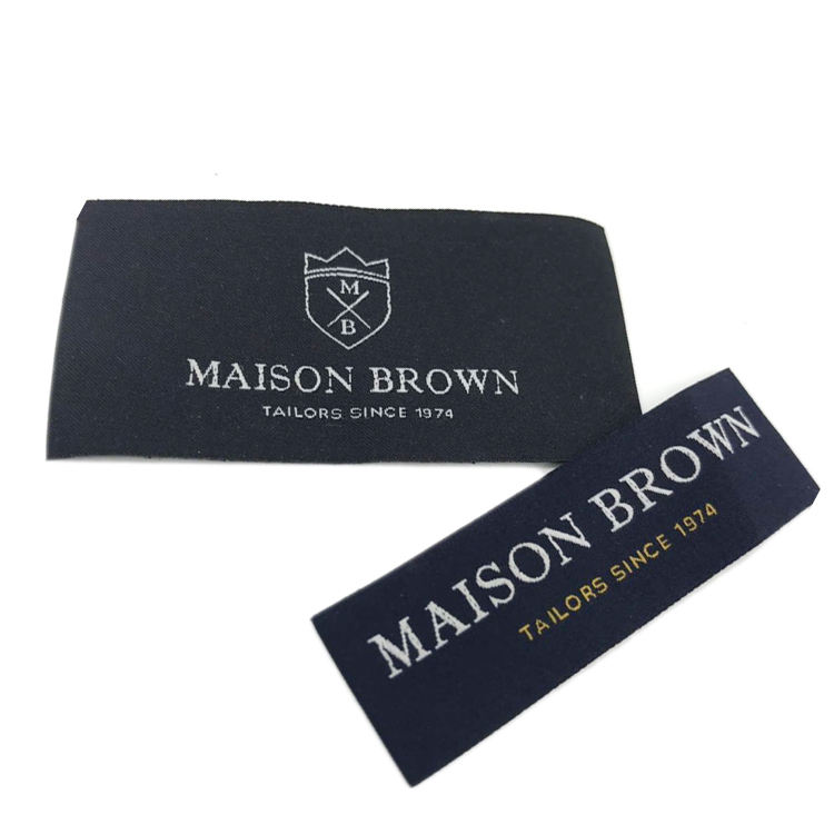 Garment Main Label Design Cheap Custom Woven Label for Shirt/ t Shirt Clothing