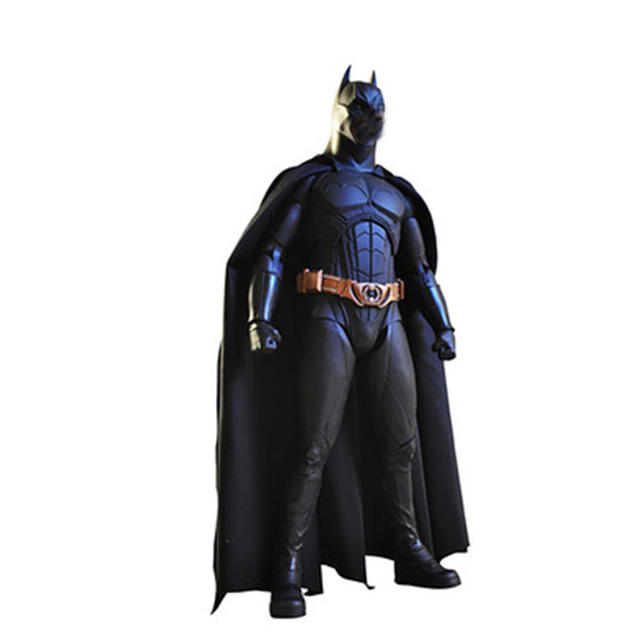 Abstract art design hars levensgrote figuur sculptuur geometrische Batman standbeeld voor indoor decoratie