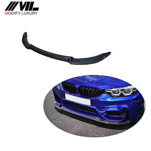 Carbon Fiber Head Bumper Front Lip Splitters for BMW F8X F80 M3 F82 F83 M4 2014-2018 Sedan Coupe