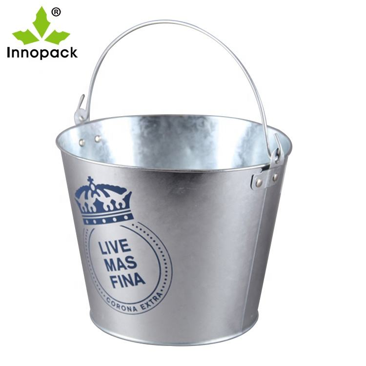 Hard Strong Sturdy Metal Beer Holder Ice Bucket with Handle
