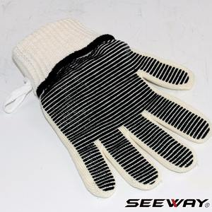 752F Elbow Length Heat Resistant Gloves With Dots