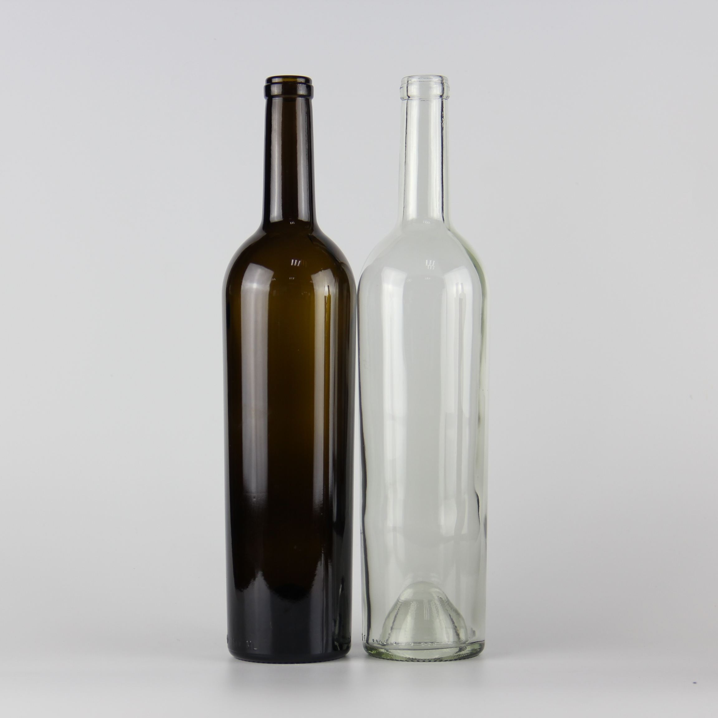 Most popular 750ml clear class bordeaux wine bottle