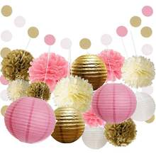 hot sale tissue paper ball  flower paper kids  birthday party wedding decorationset
