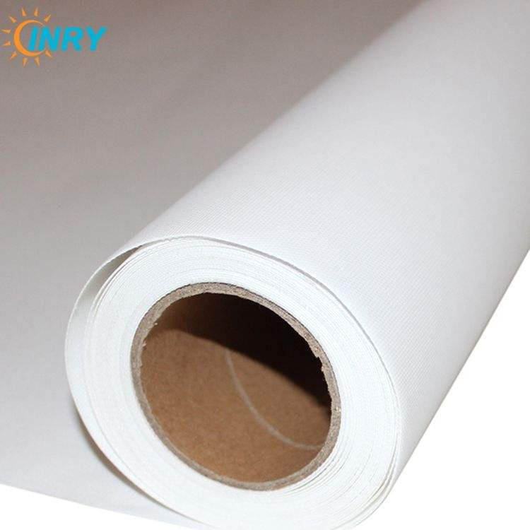 High Quality Waterproof White Stretched Polyester Inkjet Printing Canvas Roll for dye, pigment, UV, Latex Inks