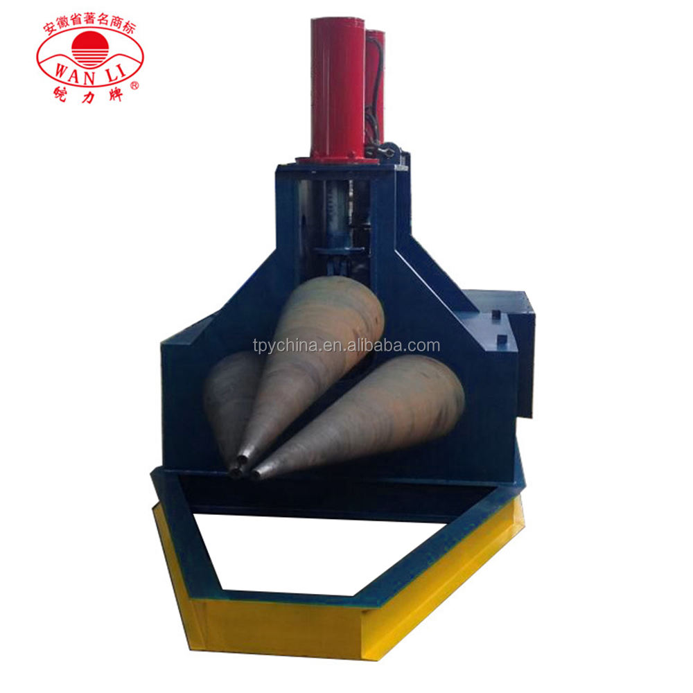 hydraulic stainless steel pipe making sheet metal cone rolling conical drum rolling machine in India