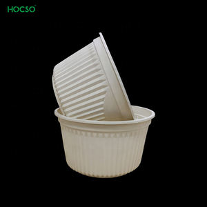 Disposable eco friendly bowl compostable salad bowl for take away food grade certified