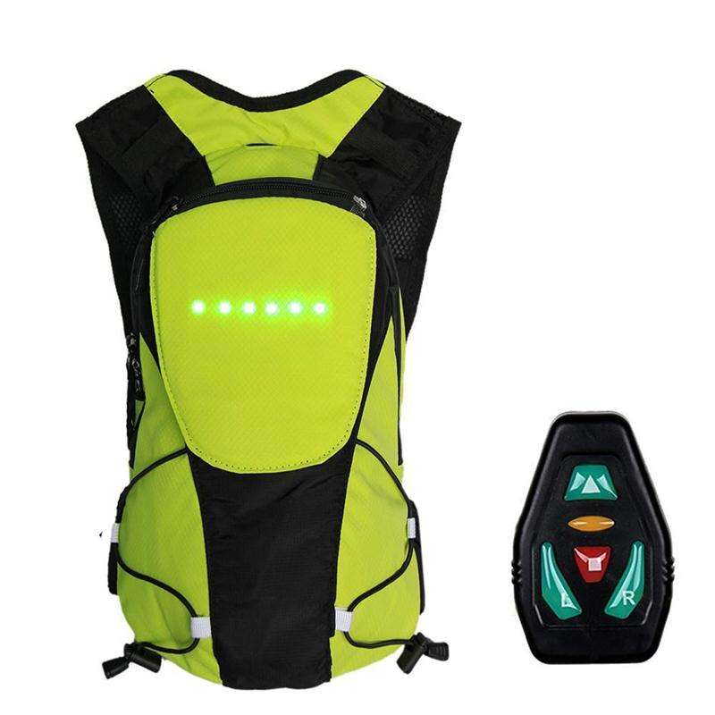 Stylist Convenient Wireless Turn Signl Lighted Backpack Sport Rucksack Led Display