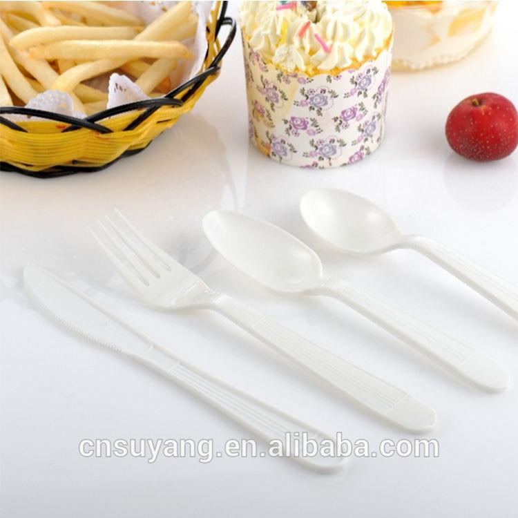 Pp <span class=keywords><strong>peso</strong></span> pesado niños desechable de postre de plástico cuchara tenedor
