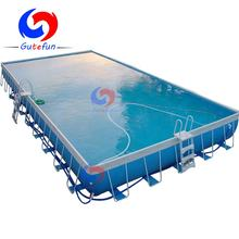 China first brand large above ground steel wall rectangular metal frame swimming pool for sale