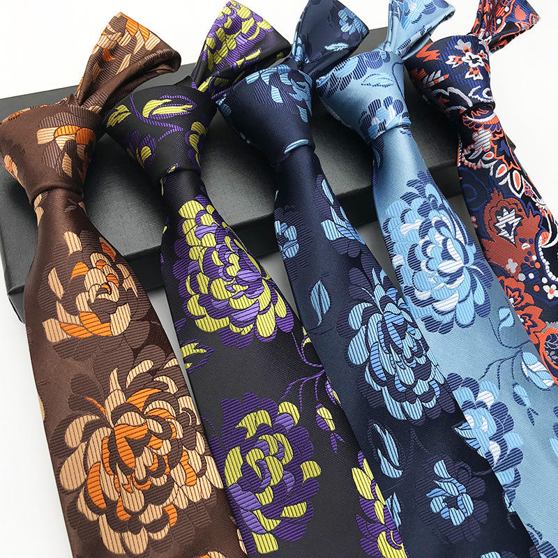Wholesale High Quality Elegant Handmade Polyester Necktie Custom Logo 8cm Mens Tie