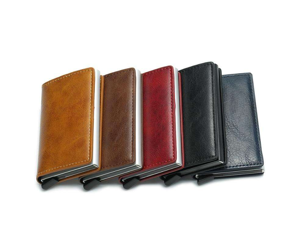Rfid Card Holder Men Wallets Money Bag Male Vintage Black Short Purse 2018 Small Leather Slim Wallets Mini Wallets Thin