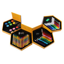 36 Colorful Crayon pencil Non-toxic Drawing Wax Oil Colored Stationery Set for School Students Kids Color pen Watercolor plate