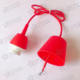 Wholesale Good Price DIY red Plastic Pendant Part Components lampholder
