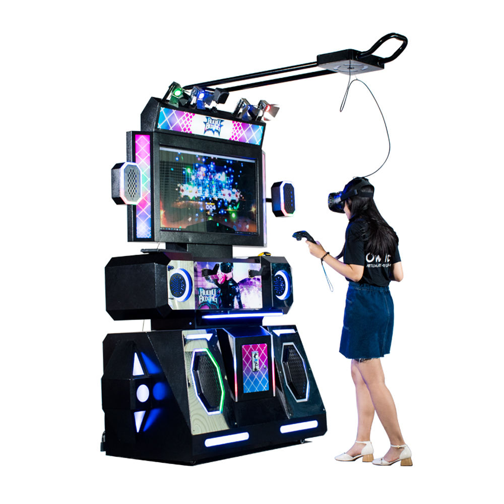 kids coin operated arcade audio electronic boxing dancing game machine