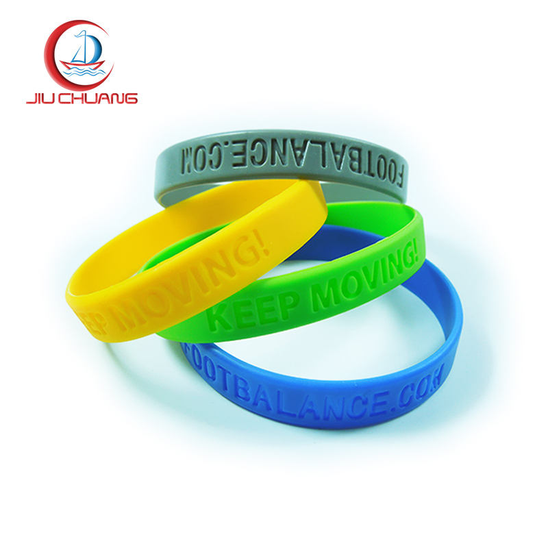 Best selling products embossed silicone wristband