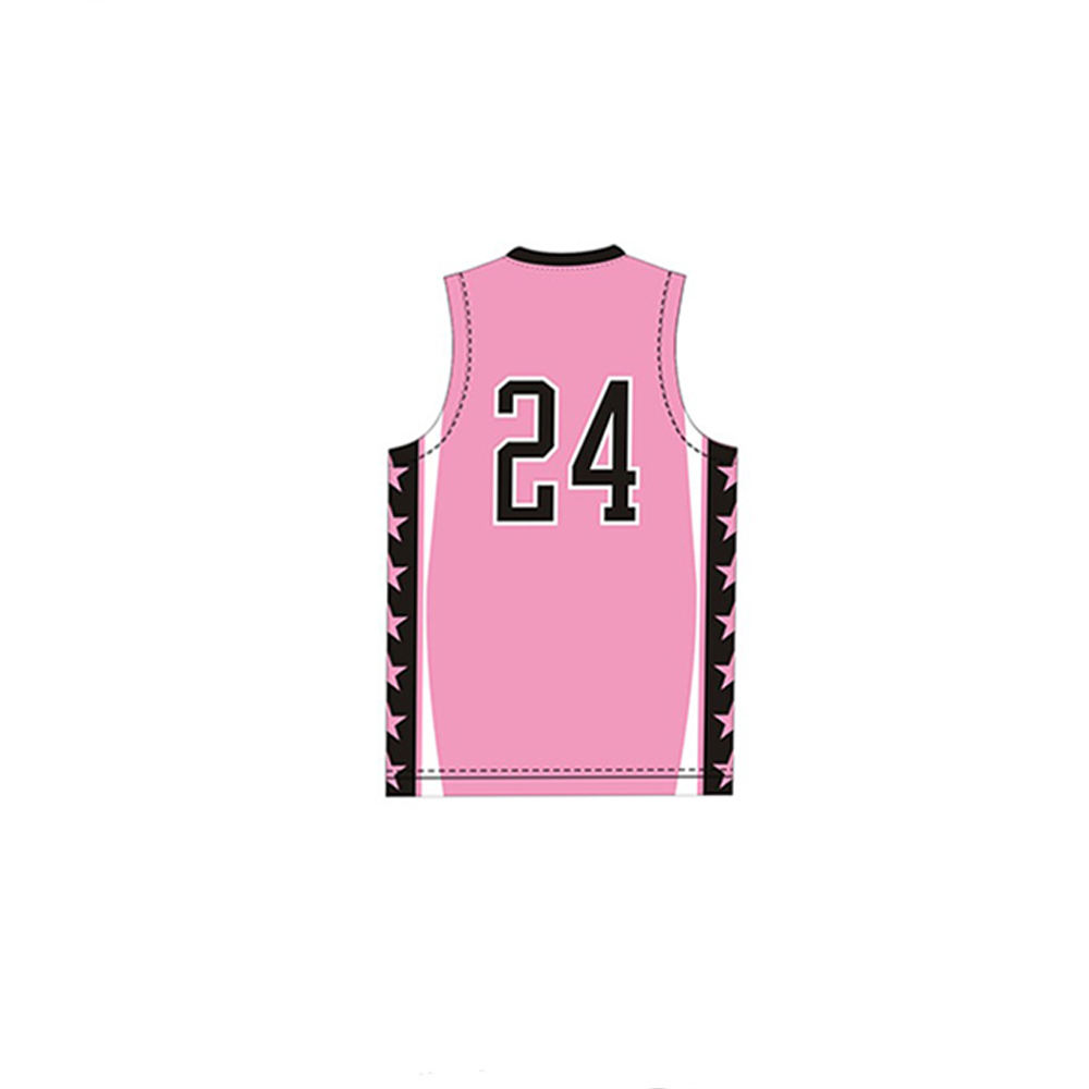 Polos Murah Basketball Jerseys New Custom Sublimasi Pink Basket Seragam
