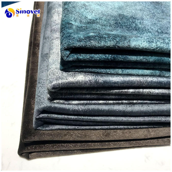 New Fashion Design Embossed Printed Holland Velvet Upholstery Sofa Fabric