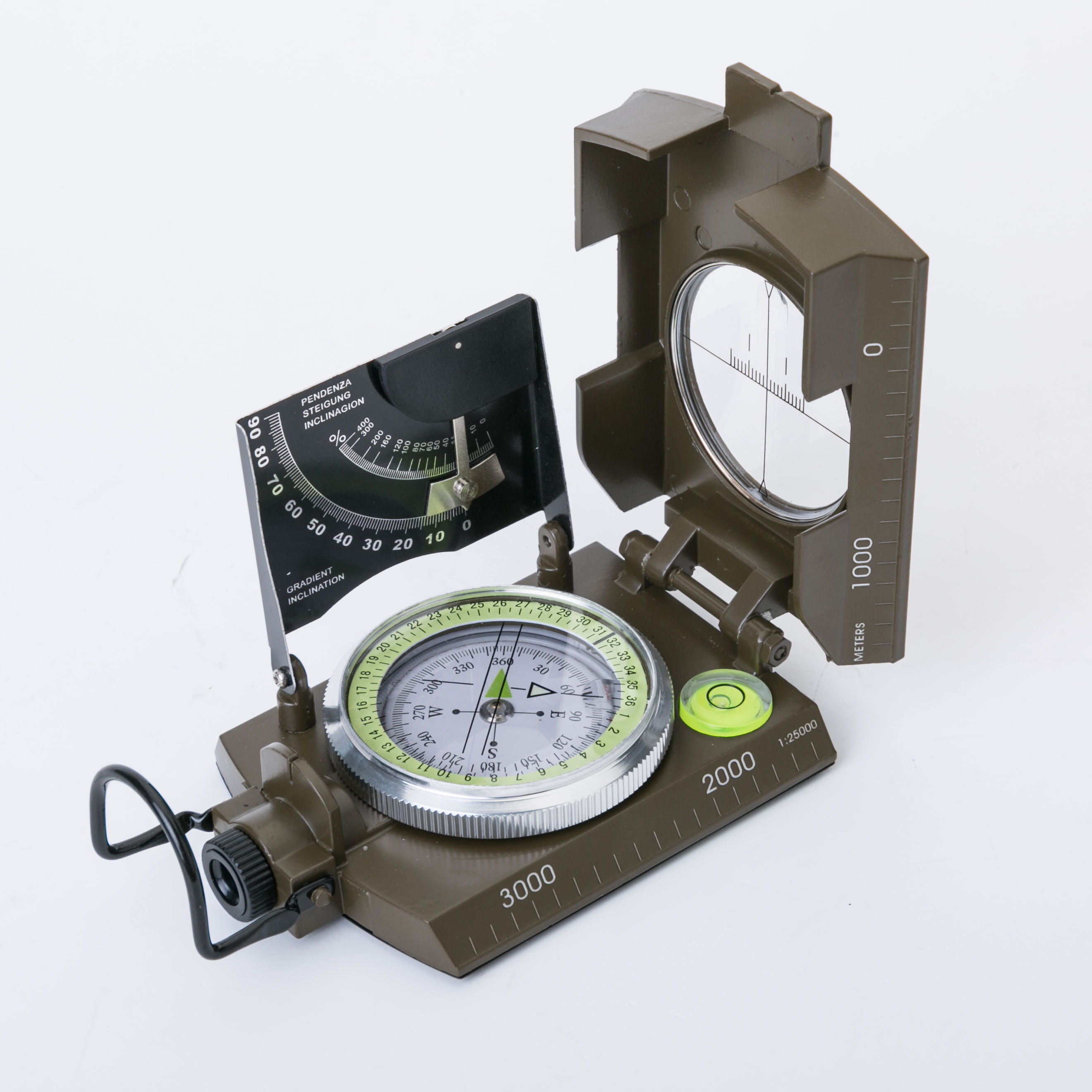 Camping survival lensatic compass military equipment aiming luminous lens geological compass