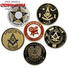 "Custom Masonic Emblem zinc alloy Badges Scottish Rite Wing Up Eagle Emblem 3"" Auto Car Emblem"