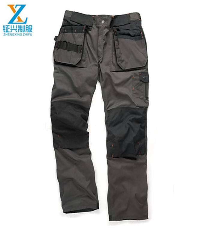 2019 Newest Style of Durable mens work pants, men's wear-resistance multi-pockets cargo workwear trousers
