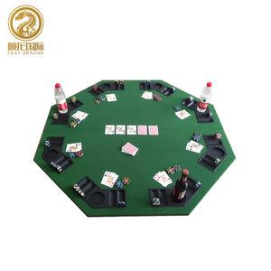 Casino Jogo de poker dobrar Potável de mesa dobrável redonda mesa de poker texas hold'em profissional