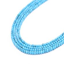 high quality  loose blue turquoise beads natural gemstone round beads  for jewelry making