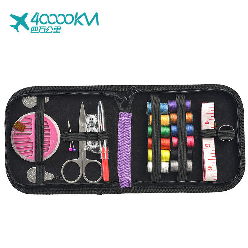 SW3408 Creative Zipper Bag for Premium Scissors First Wholesale Hotel Travel Mini Sewing Kit Pins Tools for Children Girls