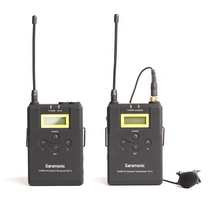 Saramonic UwMic15 16-Channel UHF Wireless Lavalier Microphone System untuk DSLR, Mirrorless Kamera dan Kamera Video