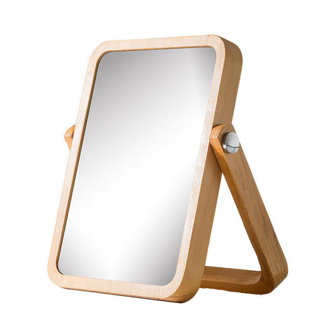 Professional manufacturer wooden pocket mirror hand mirror