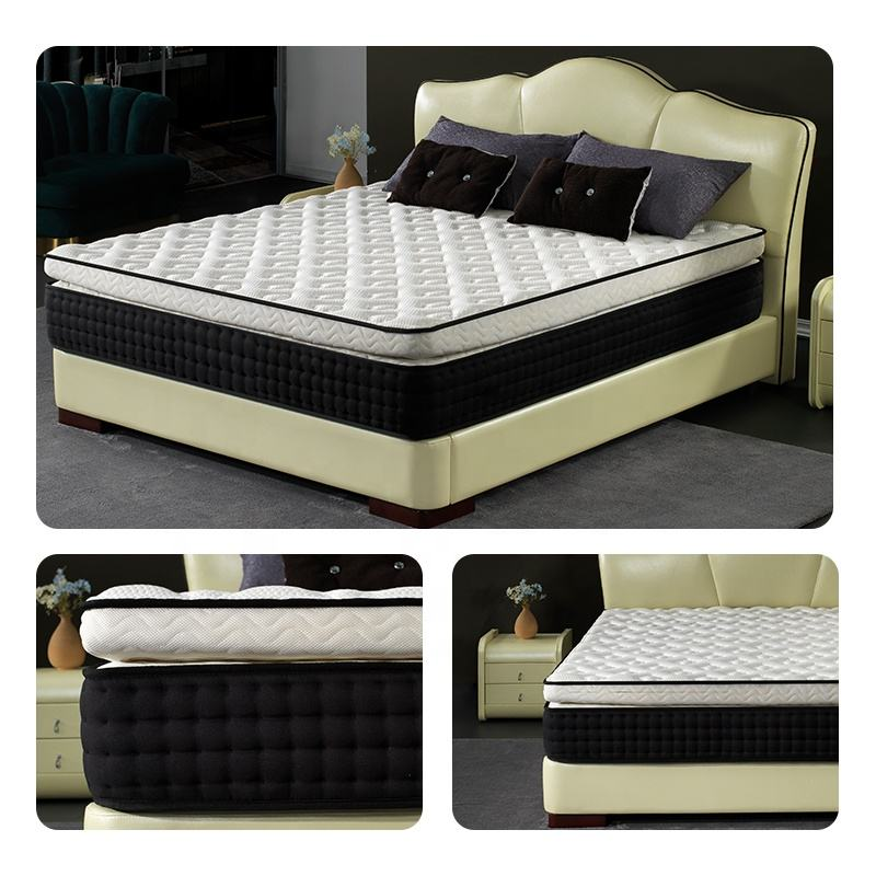 Custom Factory Supply King Queen Full Size Memory Foam Pocket Spring Hotel Bed Mattress in a Box