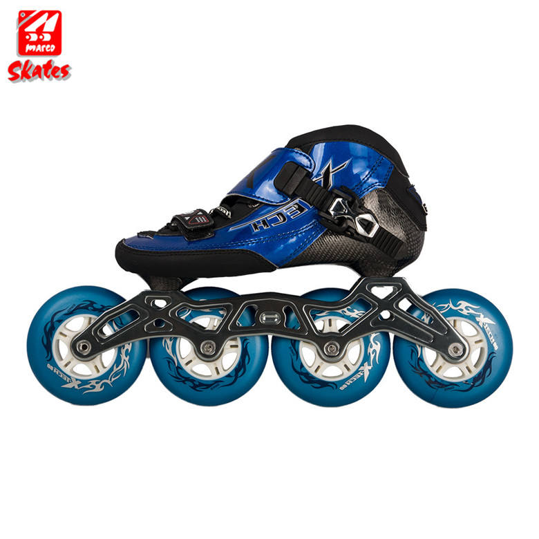 インラインプロローラースケート靴縫製アルミシャーシ 4 Pu ホイールスケート