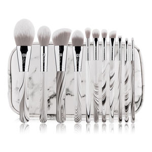 White Handle Makeup Brush Set 11pcs Wood Handle Marble Makeup Brushes Make Up Brush Profesional