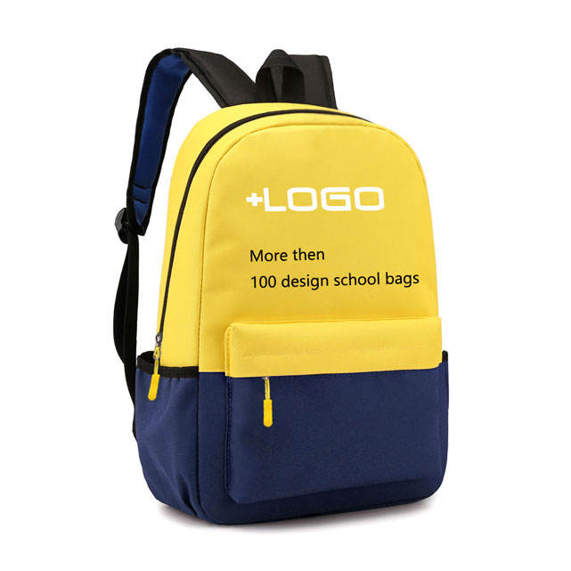 OEM Custom Logo Kindergarten school Backpack Polyester Cheap Promotion Boy Girl Child Kids School Bag