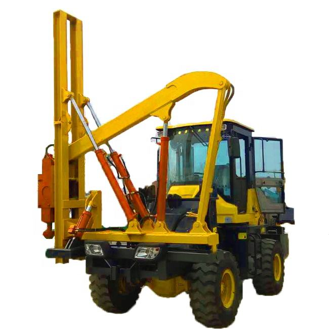 CE approved highway guard rail pile driver hydraulic pile driver machine