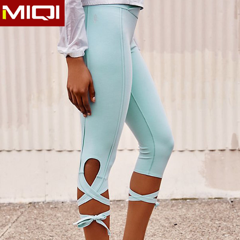 Bulk Summer Women Dance Running Workout Capris Pants Ballet Ladies Girls Fitness Sports Bandage Leggings