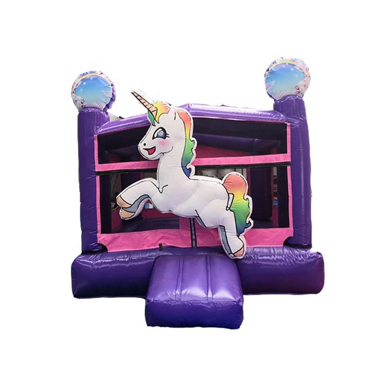 Hot sale unicorn bouncy houses inflatable mini combo bouncer for kids