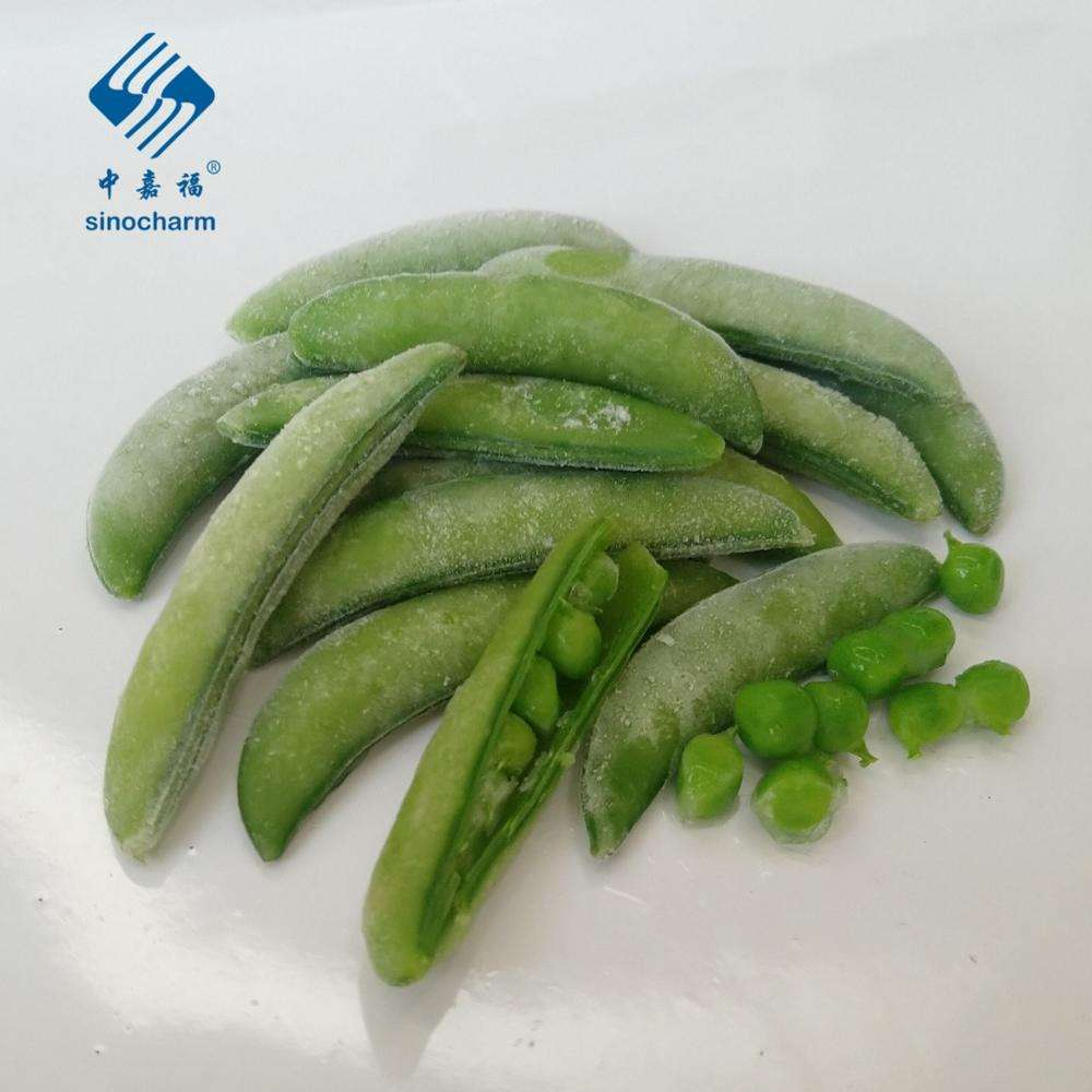 2020 New Crop Length 4 - 9 cm Thickness < 12.5 cm Double Side Stringless IQF Frozen Sugar Snap Pea