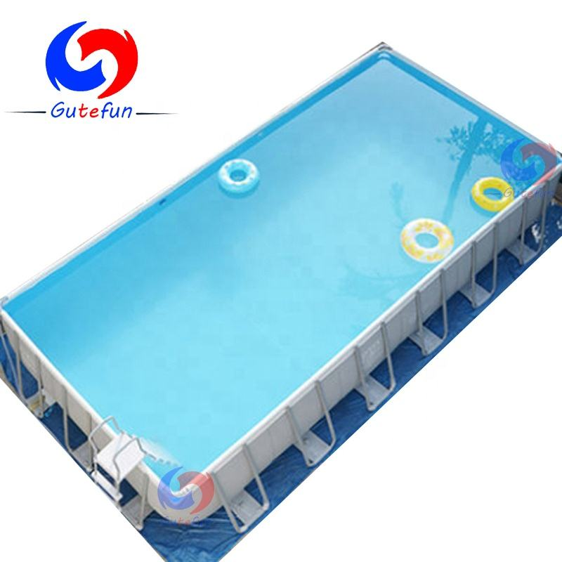 easy setup outdoor mobile above ground steel frame freestanding pvc tarpaulin swimming pool for extreme sport