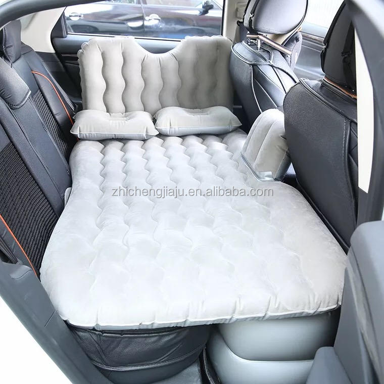 Airflow Shaped PVC Oxford car bed air filled mattress Travel Inflatable Car Back Seat Air Mattress Air Bed