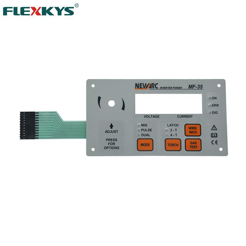 Electrónica de película delgada de Panel de Control interruptor de membrana <span class=keywords><strong>Botón</strong></span> de teclado