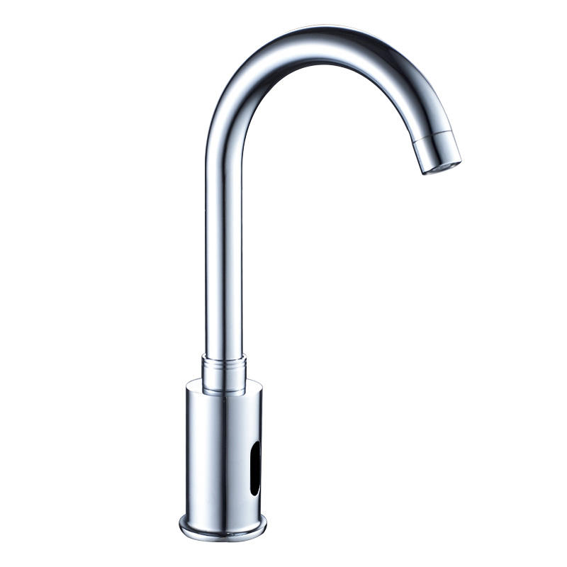 Automatic Sensor Wash Sink Faucet with Temperature Control Chrome Single Hole