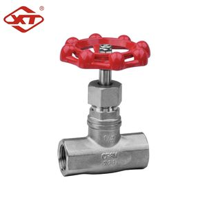 Factory price manual forged stainless steel threaded ends globe valve
