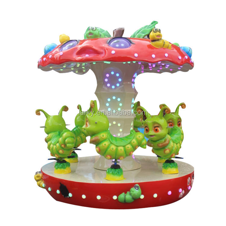 Bettaplay Hot sale coin operated carousel kiddie toy rides merry go round mini carousel