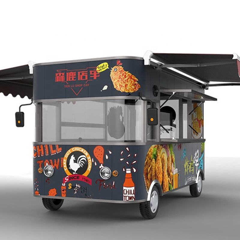 China best manufacture food catering trucks/food cart trailer for sale user friendly design with Ali trade assurance